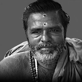 Ram Bhaina by Prasanta Das - People Portraits of Men ( hindu, priest, portrait )