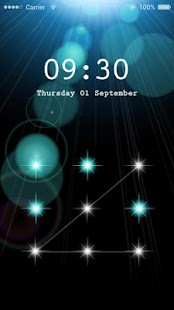 AppLock Theme Blooming Iris - screenshot