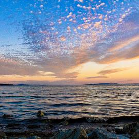 Clouds over sea by Damjan Prskalo - Landscapes Cloud Formations ( water, clouds, waterscape, sea, stone, cloud, ocean, beach, rocks )