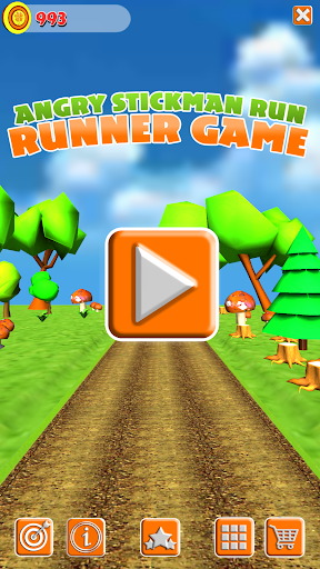 Angry Stickman Run - Running Game For PC