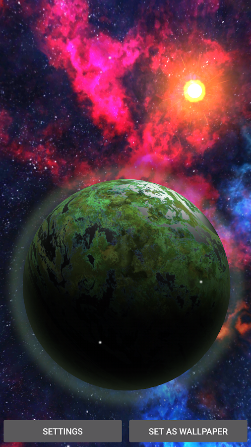3D Space Planets LWP Screenshot
