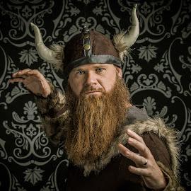 Don't anger the viking...  by John Cianfarani - People Portraits of Men