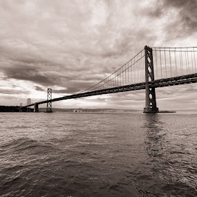 Bay Bridge by Frederic Rivollier - City,  Street & Park  Vistas ( san fransisco, bridge )