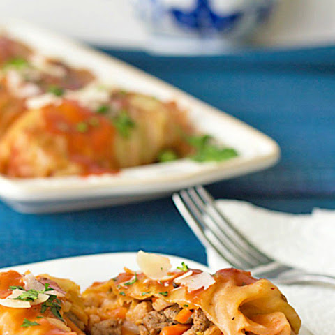 Cabbage Rolls with Turkey Sausage and Farro