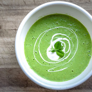 Chilled Wasabi Spring Pea Soup