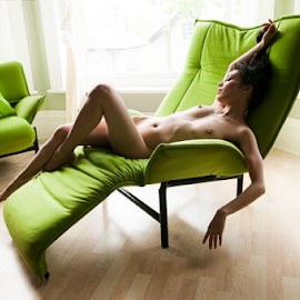 Chair Lounging by Ian Cartwright - Nudes & Boudoir Artistic Nude ( erotic, chair, art nude, nude, buxton, photographer ian cartwright caramel photography, woman, bed, boudoir, naked, bedroom )