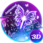3D Smoke Butterfly Theme&Emoji Keyboard Icon