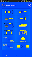 Screenshot of Analog electronics Toolbox