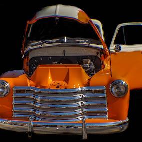 Orange truck by Jim Harris - Transportation Automobiles ( antique truck, orange, truck, hot rod, classic )