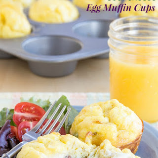 Ham, Asparagus & Goat Cheese Egg Muffin Cups