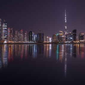 Down Town Burj Khalifa by Walid Ahmad - City,  Street & Park  Night ( dubai, uae, cityscape, burj khalifa, nightscape )