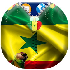 Senegal Flag Zipper Lock