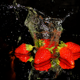 strawberry in glass by LADOCKi Elvira - Food & Drink Fruits & Vegetables ( fruits, strawberry )