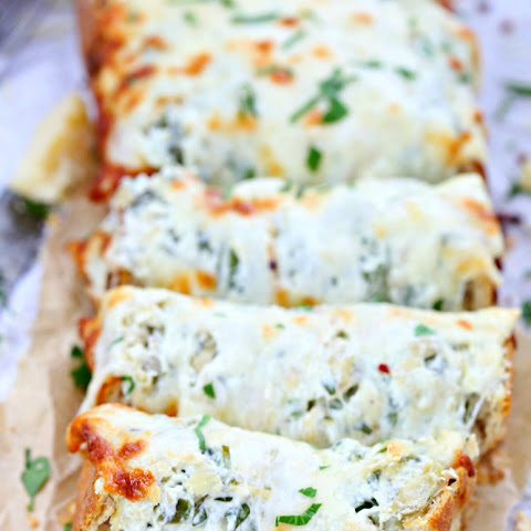 Spinach Artichoke Dip Stuffed Bread