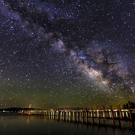 Tahoe Milky Way by Lee Molof - Landscapes Starscapes