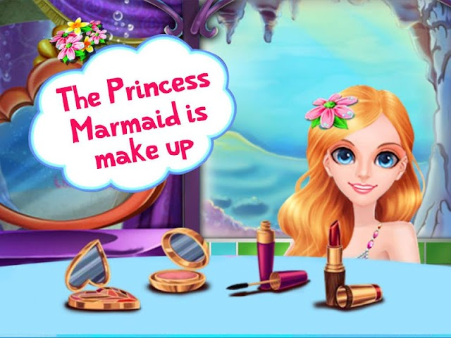 android Flower Mermaid Shining Makeup Screenshot 4