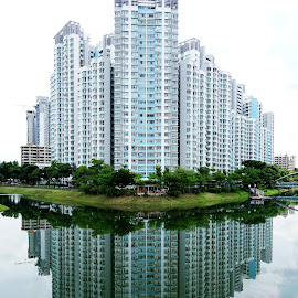 Perfect Reflection HDR by Alan Chew - Buildings & Architecture Other Exteriors