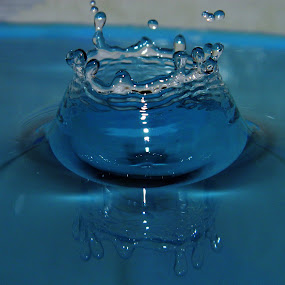 water collision  by Divnoor Buttar - Abstract Water Drops & Splashes ( water, water collision, aqueous, drops, blue water )