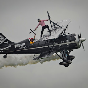 Pirates in the Sky by Greg Harrison - Transportation Airplanes ( pirates, airplane, waco, franklin, air show )
