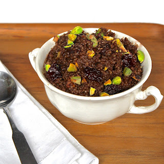 Chocolate Breakfast Quinoa with Cherries & Pistachios