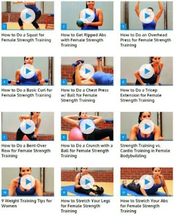Women Strength Training Fitness app screenshot for Android