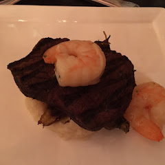 Steak and Shrimp from the regular menu adapted to be gluten free by Chef David.  2/2016