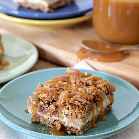Gluten Free Caramel Apple Cheesecake Bars