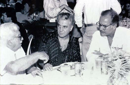 Convención Latinoamericana de I.B.M. en Puerto Rico con Jorge Amado y Carlos Fuentes