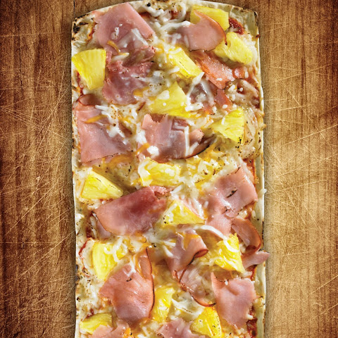 Thin Crust Hawaiian Pizza