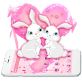 Roseat Cute Pink capon Rabbit Theme APK for Bluestacks