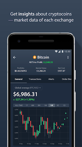 Delta - Bitcoin & Cryptocurrency Portfolio Tracker Screenshot
