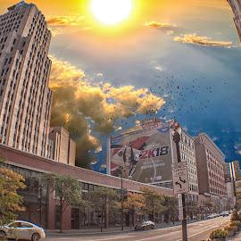 by Joe Uhase - Buildings & Architecture Office Buildings & Hotels ( sky, buildings, landscape, downtown, sun )