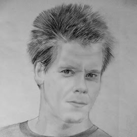 Kevin Bacon by Carmina Shan - Drawing All Drawing ( bacon, movie actor, kevin bacon, actor, portrait )