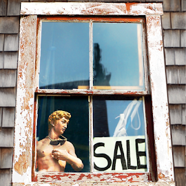 Mannequin Looking Out Of Attic Window by Robin Amaral - Artistic Objects Other Objects (  )