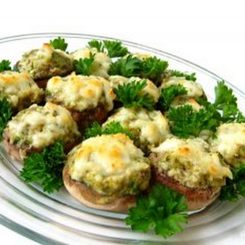 Mushrooms Stuffed With Ground Meat