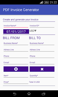 PDF Invoice Generator Business app for Android Preview 1