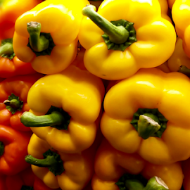 Yellow Peppers by Lope Piamonte Jr - Food & Drink Fruits & Vegetables