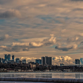 Toronto by Manasvini Munjal - Landscapes Weather ( clouds, reflection, buildings, lake )