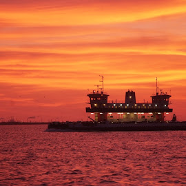 Bolivar Ferry by Brenda Shoemake - Landscapes Sunsets & Sunrises (  )