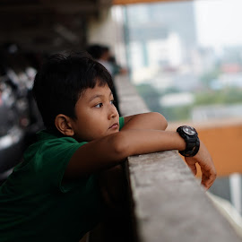 Thinking about thinking by Arie Wibowo - Babies & Children Child Portraits