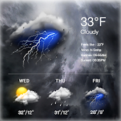 Clock & Weather Widget - Storm APK for Bluestacks