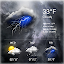 Free Download Clock & Weather Widget - Storm APK for Samsung