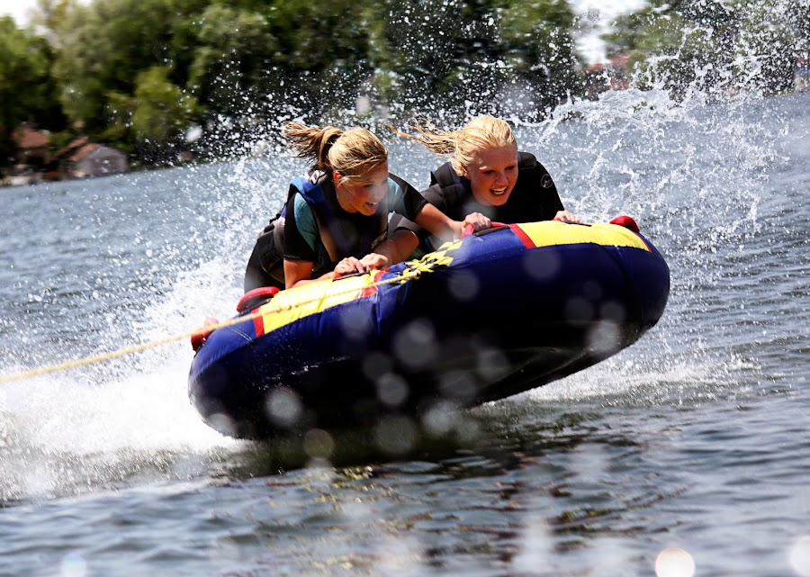 Great Time! by Irene Helmholdt - Sports & Fitness Watersports ( water sport, tubing )