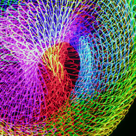 Round up by Jim Barton - Abstract Patterns ( laser light, colorful, light design, laser design, laser, laser light show, light, science, round up )