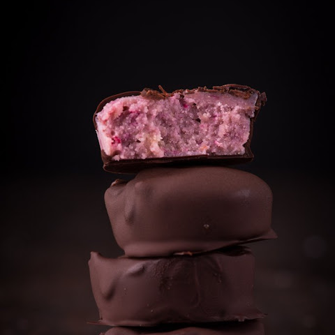 Raspberry Fudge Chocolates