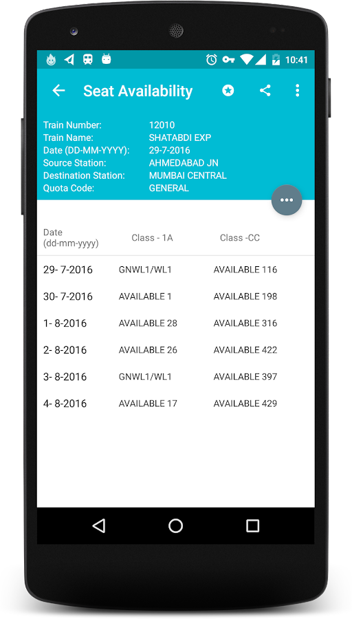 Indian Rail Info App PRO Screenshot 4