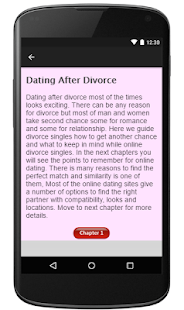 Divorced Singles Dating Guide - screenshot