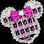 Twinkle Minny Bowknot Keyboard Theme