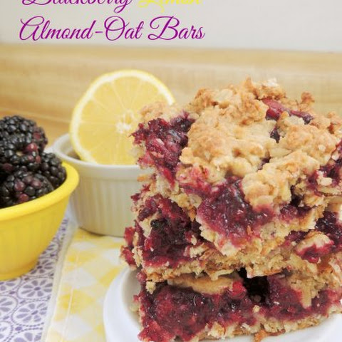 Blackberry Lemon Almond-Oat Bars
