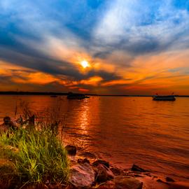 Sunset by Joseph Law - Landscapes Sunsets & Sunrises
